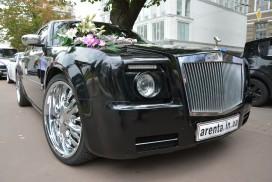 Прокат черного Rolls Royce Fantom в Харькове