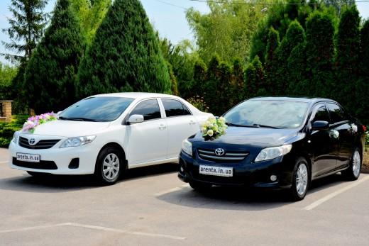 Прокат белой Toyota Corolla на свадьбу в Харькове